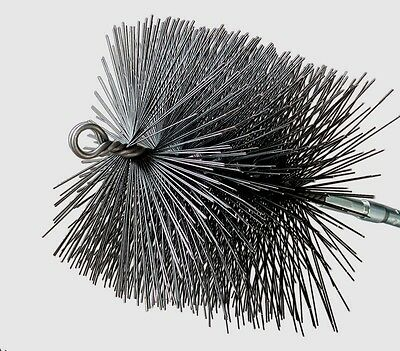 """New! 16506 RUTLAND 6"""" Square Wire Chimney Sweep Cleaning Brush w/Pull Ring Black"""