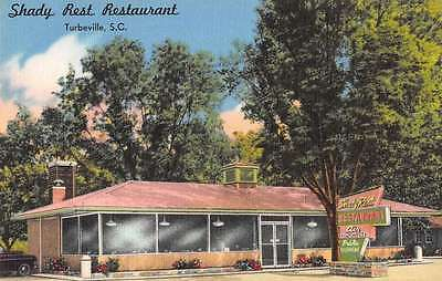 Turbeville South Carolina Shady Rest Restaurant linen antique pc Z12161