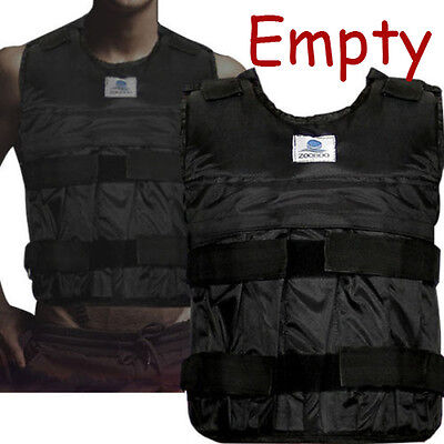 20kg/44lb Adjustable Weight Vest Weigh Outdoor Exercise Training Fitness (Empty)