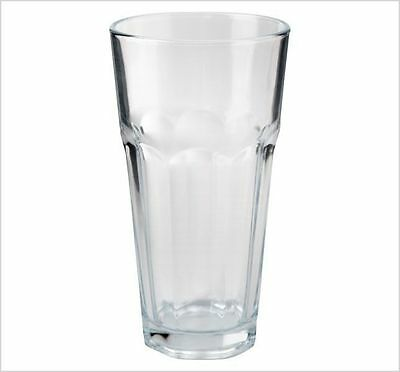 Brand New 16oz Drinking Water Glass Cold Juice Clear Tumbler Set of 6