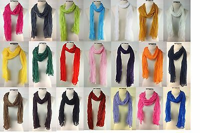 Candy Scarf Long Crinkle Wrap Shawl Long Scarf Scarves Style Cover Colorful