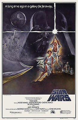 STAR WARS Mark Hammill Harrison Ford Modern Classic Movie Poster Various Sizes