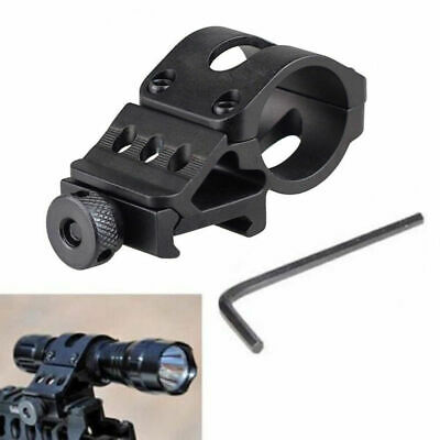 "1"" Offset Picatinny Weaver Rail Mount for Flashlight with Quick Release Set"