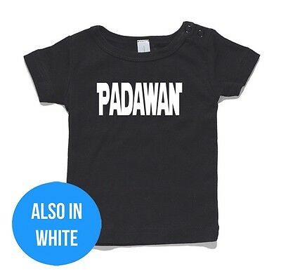 Padawan Baby T-Shirt or Onesie Jumpsuit cotton gift funny present Star Wars Jedi
