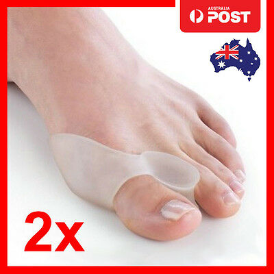 2 Silicone Gel Bunion Protector Toe Separator Straightener Alignment Pain Relief
