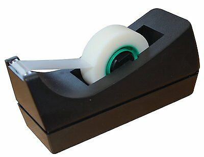 1 x Weighted Sticky Tape Sellotape Dispenser for Mini Rolls Up To 33m x 19mm