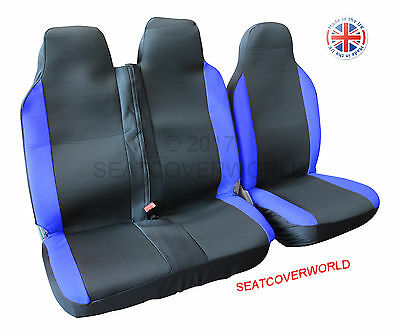 Toyota Hiace -  Black/blue Deluxe Van Seat Covers - Single + Double