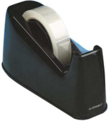 5 Star Sellotape Tape Dispenser Desk Weighted Non-slip Capacity 25mm Width Black