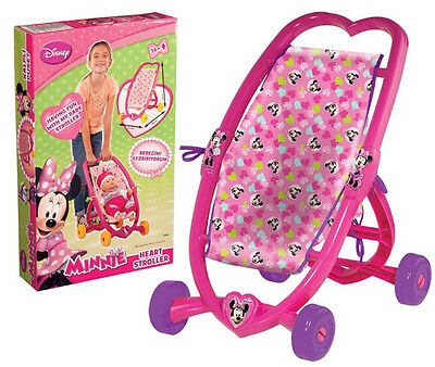 Minnie Mouse Heart Baby Doll Pink Stroller Folding Buggy Pram Dolls Pushchair