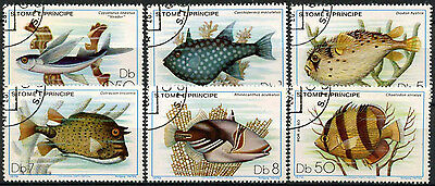 St. Thomas & Prince Island 1980 Fishes Cto Used Set #D959