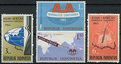 Indonesia 1963 SG#958-61 Journalists Conference MNH Set #D637