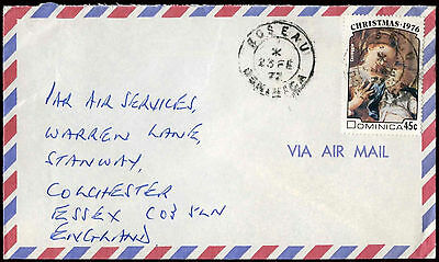 Dominica 1977 Commercial Air Mail Cover To England #C30391