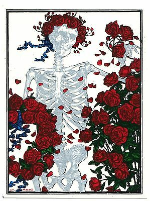 GRATEFUL DEAD skeleton roses WINDOW STICKER **Free Shipping** -d 40009 decal