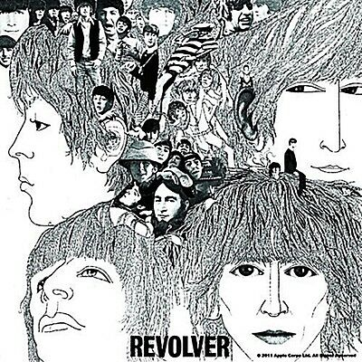 Beatles Revolver LP Cover fridge magnet 75mm x 75mm    (ro)