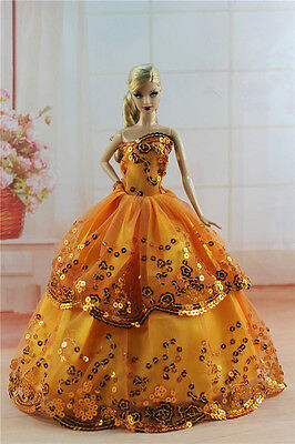 Fashion Princess Dress Wedding Clothes/Gown For 11.5in.Doll S291