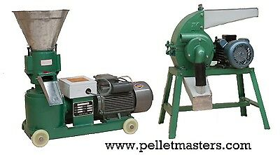 4hp Pellet Mill & 3hp Hammer Mill Single Phase Combo - USA stock - Free Shipping