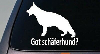 Got Sch'ferhund? German Shepherd Dog Window Decal Sticker Malinois Schutzhund
