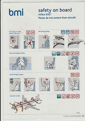 Safety card bmi Airbus A321