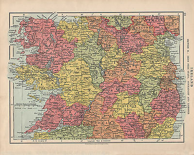 1925 Map ~ Ireland Section 2 Irish Free State ~ Connaught & Leinster