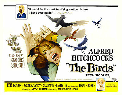 """ The Birds "" Alfred Hitchcocks Klassisches Filmposter A1 A2 A3 A4"