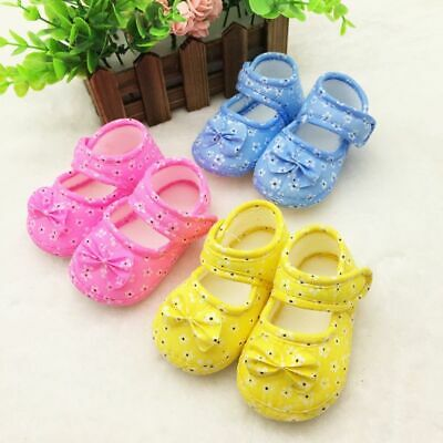 Non-slip Toddler Kids Baby Shoes Newborn Girls Soft Sole Cotton Crib Shoes 0-18M