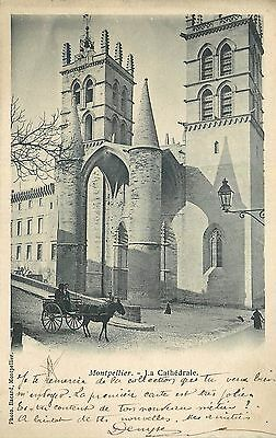 34 Montpellier Cathedrale - Charette