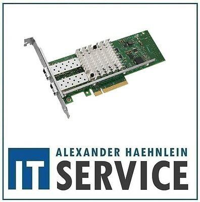 Intel X520-DA2 10 Gigabit 10GBe SFP+ Dual Port Server Adapter Gebraucht LP