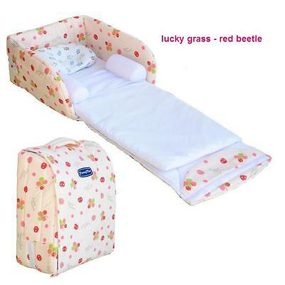 Portable baby bed with a small pillow with bamboo fiber 0-12 months