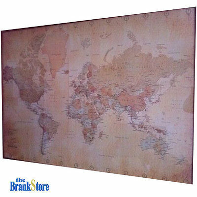 Large world map poster vintage wall picture retro art giant school large world map poster vintage wall picture retro art giant school globe banner gumiabroncs Image collections