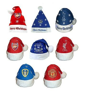 OFFICIAL FOOTBALL CLUB CHRISTMAS SANTA HATS - Various Teams & Designs