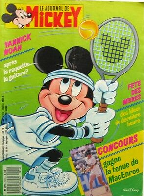 Le journal de Mickey n°1874 du 24  mai 1988 - Tennis MacEnroe -