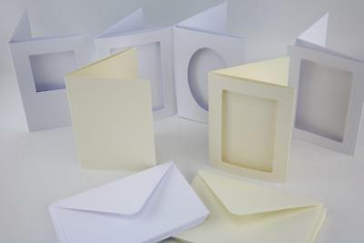 Craft UK A6 3 Fold Aperture Cards And Envelopes