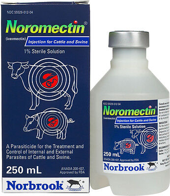 250 ml Noromectin Injection for Cattle & Swine