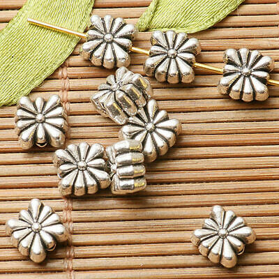 50pcs dark silver color  2sided flower spacer  bead  EF2791