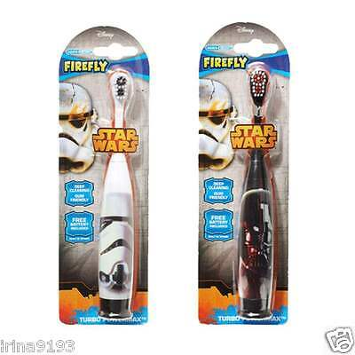 Star Wars Firefly Battery Electric Turbo Toothbrush Darth Vader or Storm Trooper