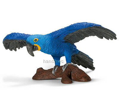 FREE SHIPPING | Schleich 14689 Hyacinth Macaw Parrot Toy 2013 - New in Package