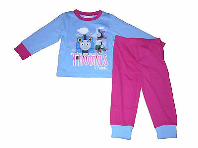 Girls Pyjamas Thomas The Tank Engine 9 Months To 6 Years Pink & Pale Blue