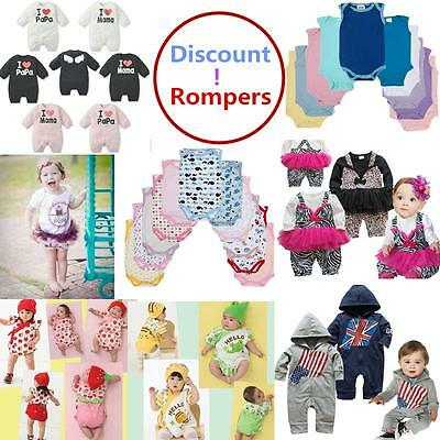 Discount Baby Girls/Boys Cute Romper Soft Cotton Wholesale Fashion Child Clothe