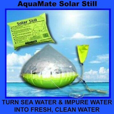 Aquamate Inflatable Solar Water Still + Free Ship **