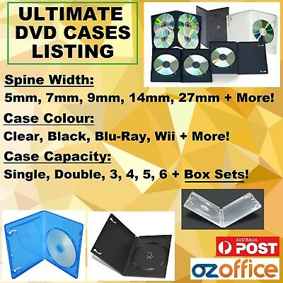 DVD Covers DVD Cases Single Double Triple Black Clear Box Set Case + Outer Wrap