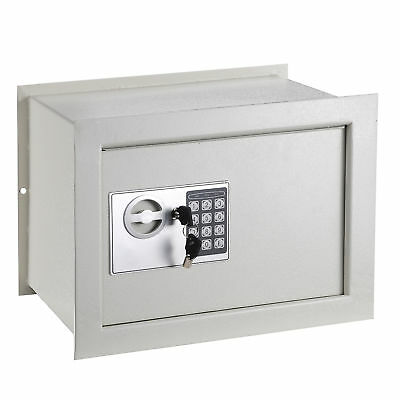 Digital 1.0 CF Wall Inground Flat Safe Keyless Lock Home Security Gun Cash Box