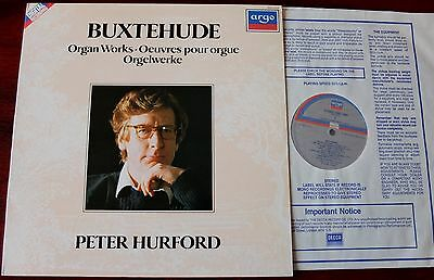 Argo Zrdl 1004 Buxtehude Organ Works Lp Hurford Nm Dig Holland
