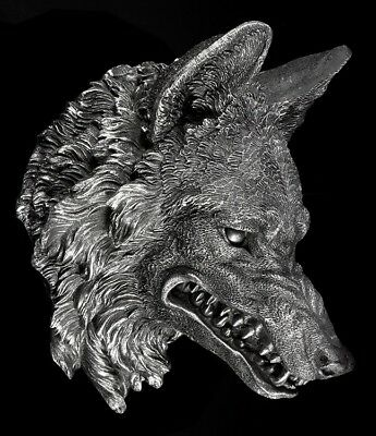 Wolfskopf - The Wild Beast - Fantasy Werwolf Deko Wand
