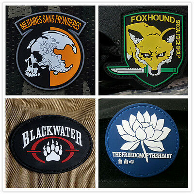 3D Tactical Army Skull/ Fox/ Paw/ Lotus Morale Airsoft Pvc Rubber Velcro Patch