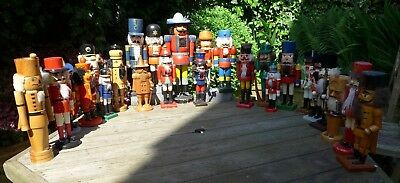 Vintage 21x German Wooden Nutcracker Soldier Collections, Christmas Decorations
