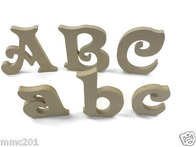 MDF Wooden Alphabet Letters & Numbers Victorian Font