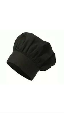 12 NEW BLACK CHEF HATS COMMERCIAL Adjustable WHOLESALE