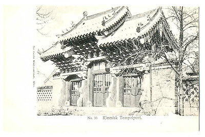 Danish Missionery Society in China Chinese Temple Port PC 1900s