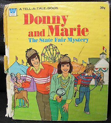 Vntg Donny and Marie Tell-A-Tale Book, The State Fair Mystery, 1977 Whitman Book