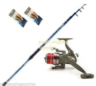 12,13,14 ft Telescopic Lineaeffe Travel Beachcaster Beach Fishing Rod Reel Line